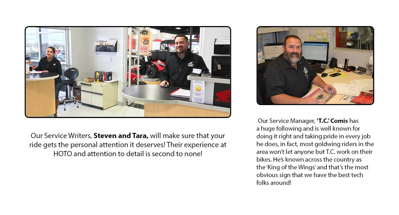 Honda of the Ozarks Service Writers and Service Manager