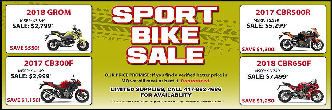 Sport Bike Specials at Honda of the Ozarks in Springfield, MO